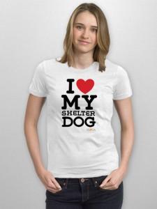 i heart my shelter dog tee