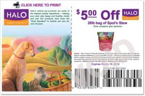 $5 Off Halo Printable Pet Food Coupon