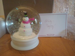 My Snow Globe Christmas in February
