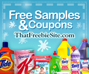 That Freebie Site for free samples and coupons