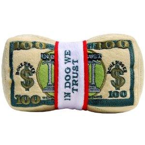 Money dog toy at Amazon