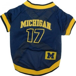 Go Blue! NCAA Michigan Wolverines Dog Jersey