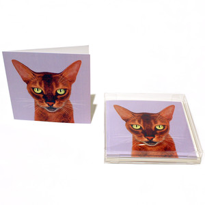 cool cat note cards