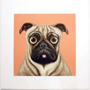 adorable dog art print