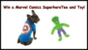 Win a Marvel Comics Superhero Dog Tee and Toy!