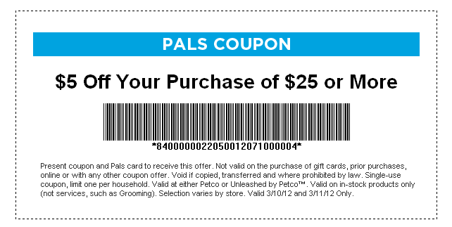 National coupon code