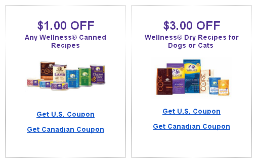 Printable Wellness Pet Food Coupons