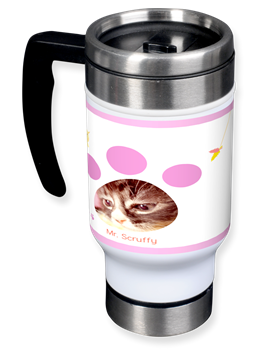 cute kitty paw travel mug
