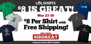 LOLShirts Promo Code and Sale