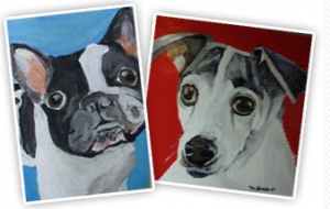 painted pet portrait