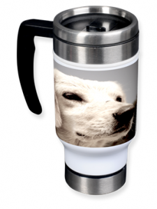rescue pup travel mug