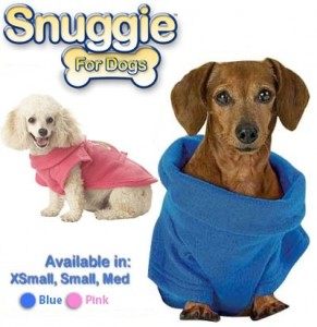 FREE Pink or Blue Snuggie for Dogs