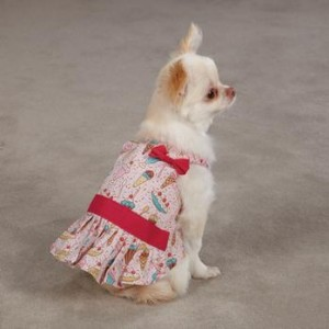 Cute pink dog sun dress