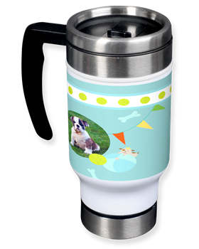 travel mug dog photo