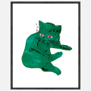 Andy Warhol pop art cat
