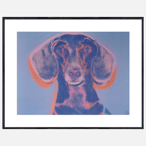 Warhol framed dog art