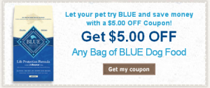 image about Blue Buffalo Dog Food Coupons Printable named Blue Buffalo Discount codes: Get hold of a $5 Off Coupon for Any Bag of