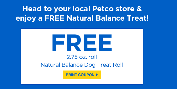 Natural Balance Dog Treat Coupons