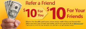 Free $10 to spend at Vitacost