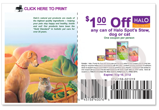 Halo Pet Food Coupons for May