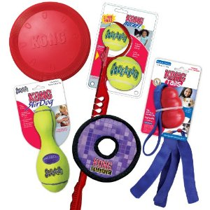 save 50 on the kong summer fun combo pack of dog toys