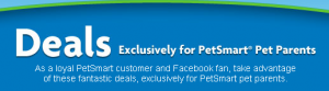 PetSmart printable coupons and deals on Facebook