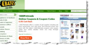 ebates pet deals and cash back