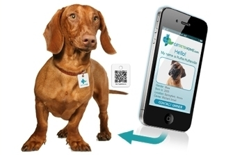 QR dog tag deal at Coupaw.com
