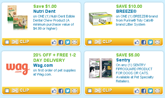 latest pet coupons at coupons.com