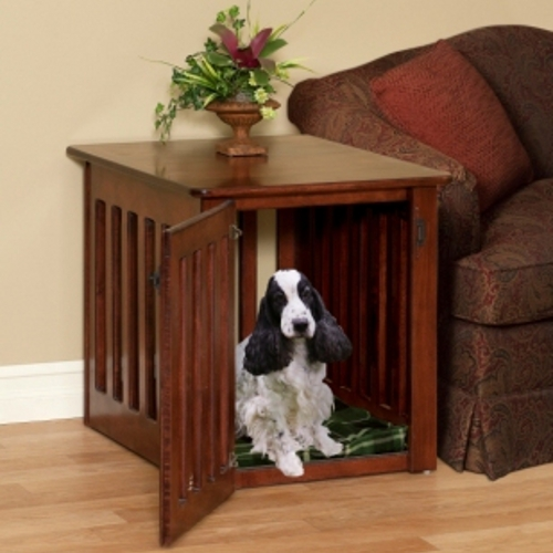 If You Re Like Most Pet Parents A Solid Wood Dog Crate End Table Will