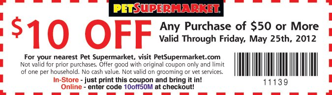 graphic regarding Petco Printable Coupon $10 Off $50 identify $10 Off Puppy Grocery store Printable Coupon Woof Woof Mama