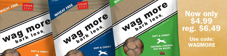 Wag More all-natural dog treats on sale