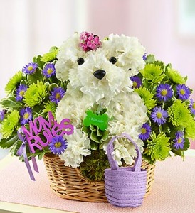 Mom Rules aDOGable flower arrangment