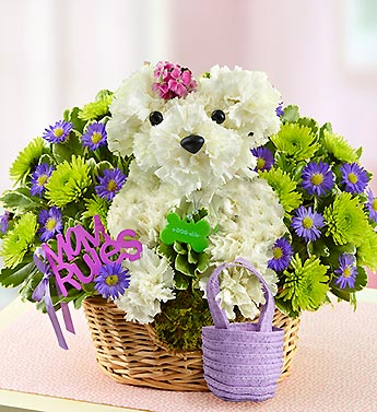 flower arrangements that look like a dog? | Yahoo Answers