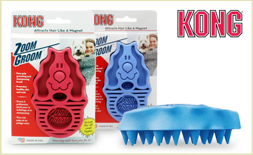 KONG ZoomGroom dog brush at doggyloot