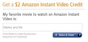 Amazon Instant Video Credit