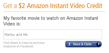 Amazon Instant Video Credit