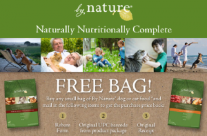 Free bag of By Nature pet food