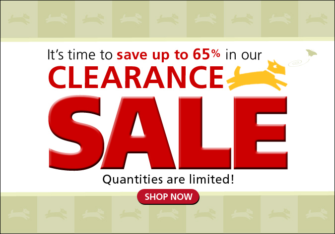 big clearance sale for dogs and people