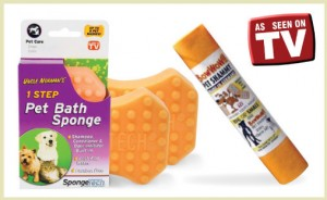 pet bath sponges and shammy deal at DoggyLoot