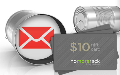 Free $10 credit at nomorerack shopping site