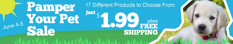 $1.99 Pet Product Sale at Tanga!