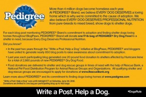 Pedigree Write a Post, Help a Dog Postcard