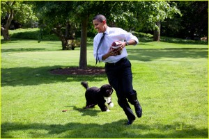 President Obama and Bo the First Dog