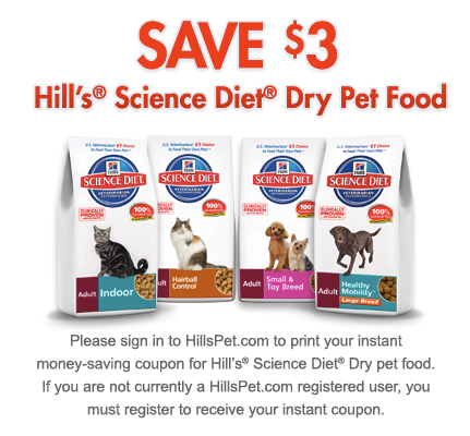 Science Diet Printable Pet Food Coupon