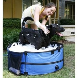 Portable pet bath tub