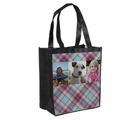 plaid tote design $1 offer