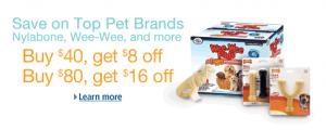 Amazon Pet Sale