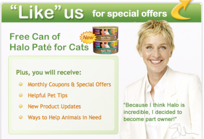 Free Can of Halo Pate for Cats