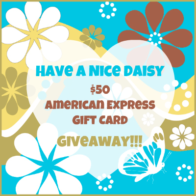 Have a Nice Daisy $50 Amex GC Giveaway